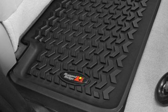 Image may not reflect your exact vehicle! Rugged Ridge® - All Terrain 2nd Row Black Floor Liner