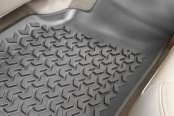 Image may not reflect your exact vehicle! Rugged Ridge® - All Terrain Floor Liners, One Piece 2nd Row, Gray