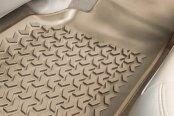 Image may not reflect your exact vehicle! Rugged Ridge® - All Terrain Floor Liners, One Piece 2nd Row, Tan
