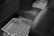 Image may not reflect your exact vehicle! Rugged Ridge® - All Terrain 2nd Row Gray Floor Liners