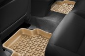Image may not reflect your exact vehicle! Rugged Ridge® - All Terrain 2nd Row Tan Floor Liners