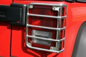 Image may not reflect your exact vehicle!Rugged Ridge® - Euro Style Polished Tail Light Guards