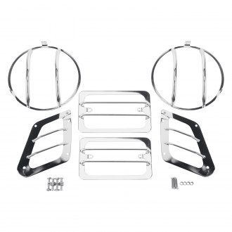 Rugged Ridge® - Euro Style Polished Light Guard Kit