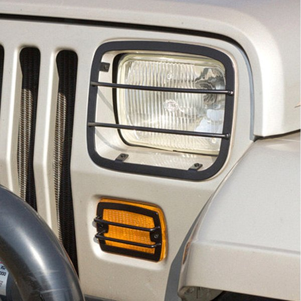 Image may not reflect your exact vehicle! Rugged Ridge® - Euro Style Black Headlight And Turn Signal Guards