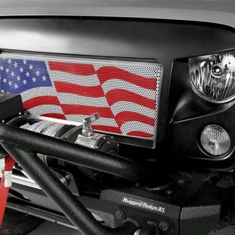 Rugged Ridge® - Spartan American Flag Grille Insert