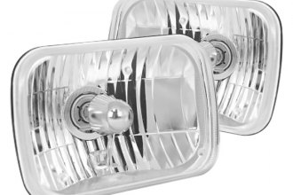 Rugged Ridge® - Euro Chrome Replacement 200mm Rectangular HB2/H4 Headlight