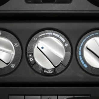 Rugged Ridge® - Billet Aluminum Climate Control Knob Set, Blue Indicators