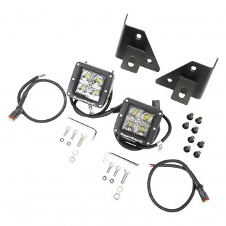 "Rugged Ridge® - A-Pillar Mounted 3"" 2x16W Cube Driving Beam LED Light Kit"