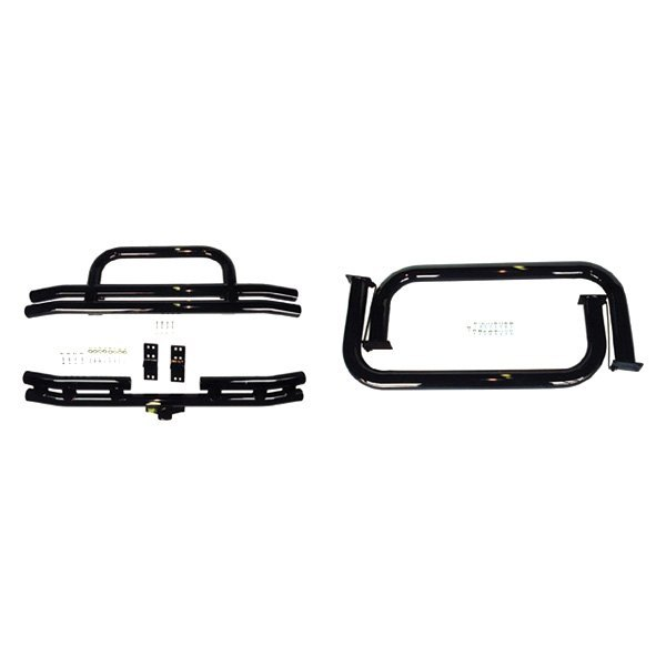 Rugged Ridge® - Full Width Front and Rear Tubular Black Bumper and Side Step Kit