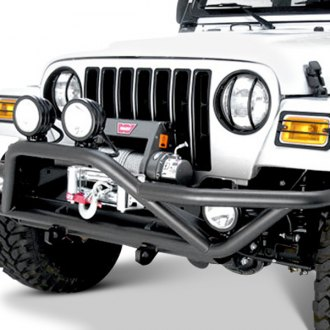 Rugged Ridge® - RRC Full Width Front Tubular Bumper with Grille Guard
