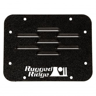 Rugged Ridge® - Black Textured Powder Coat Rear Tire Carrier Delete Plate