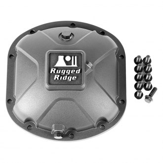 Rugged Ridge® - Boulder Aluminum Differential Black Cover