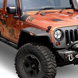 Rugged Ridge® - Hurricane Textured Black Front and Rear Fender Flares Kit