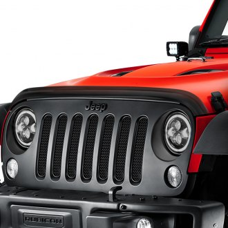 Rugged Ridge® - Acrylic Smoke Wraparound Hood Bug Deflector