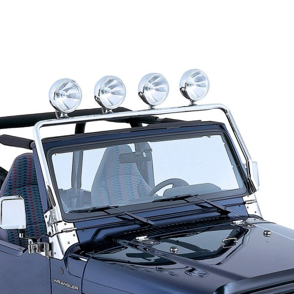 Rugged Ridge® - Polished 4-Tab Windshield Frame Mount