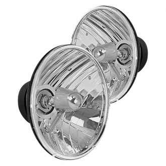 "Rugged Ridge® - 7"" Round Chrome Euro Headlights"