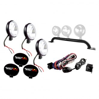 Rugged Ridge® - Front Bumper Light Bar Kit with Slim Fog Lights