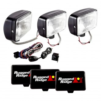 "Rugged Ridge® - 5x7"" Rectangular 100 W Fog Light Kit"
