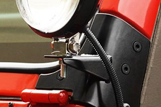 Rugged Ridge® - Windshield Hinge Auxiliary Light Brackets