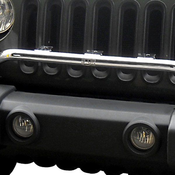Rugged Ridge® - Bumper Mounted Light Bar, Stainless Steel