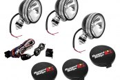 "Rugged Ridge® - 6"" Black Halogen Fog Lights Kit, Three Lights"