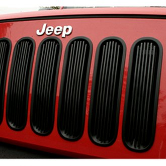 Rugged Ridge® - Black Billet Aluminum Grille Inserts