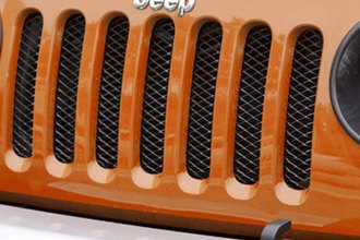Rugged Ridge® - Gloss Black Mesh Grille Insert