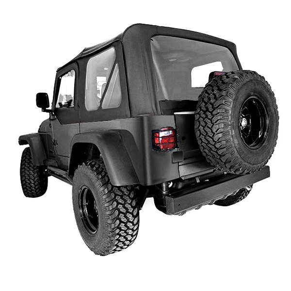 Rugged Ridge® - Factory Replacement Soft Top, with Door Skins, with Tinted Windows, Black Denim