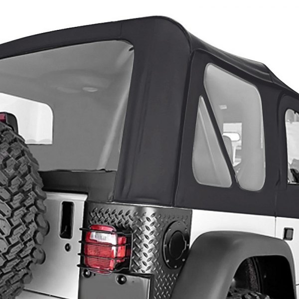 Rugged Ridge® - Factory Replacement Soft Top, without Door Skins, with Clear Windows, Black Denim