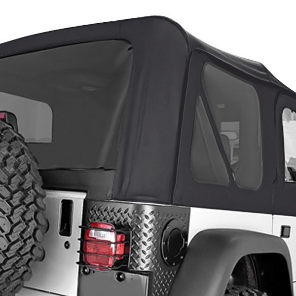 Rugged Ridge® - Factory Replacement Soft Top, without Door Skins, with Tinted Windows, Black Denim