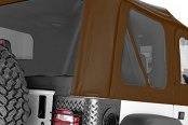 Rugged Ridge® - Factory Replacement Soft Top, without Door Skins, with Tinted Windows, Dark Tan