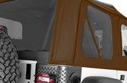 Rugged Ridge® 13706.33 - Factory Replacement Soft Top (W/O Door Skins, with Tinted Windows, Dark Tan)