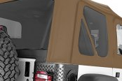 Rugged Ridge® - Factory Replacement Soft Top, without Door Skins, with Tinted Windows, Spice