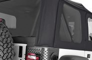 Rugged Ridge® 13710.35 - Factory Replacement Soft Top (W/O Door Skins, with Tinted Windows, Diamond Black)
