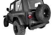Rugged Ridge® - XHD Soft Top, with Door Skins, with Clear Windows, Black Denim
