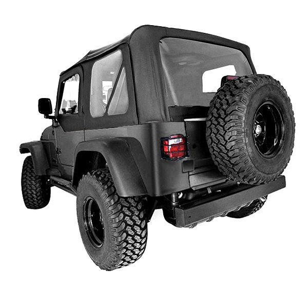 Rugged Ridge® - XHD Soft Top, without Door Skins, with Clear Windows, Black Denim