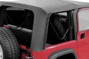 Rugged Ridge® - Factory Replacement Soft Top, without Door Skins, Shown with Folded Windows