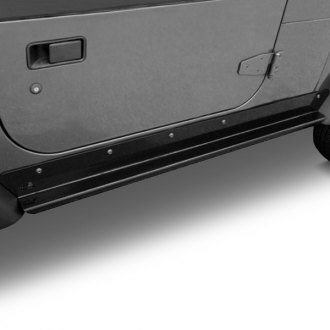 Rugged Ridge® - HD Black Side Rocker Guards