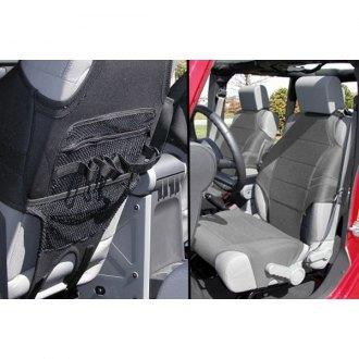 Rugged Ridge®   Neoprene 1st Row Black Seat Protectors