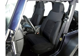 RUGGED RIDGE® - Fabric Front Seat Covers (Black)