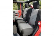 Rugged Ridge® - Neoprene Rear Seat Cover (4 DR, Black/Gray)