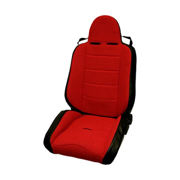 Rugged Ridge® - RRC Race Seat, with Recliner, Red/Black