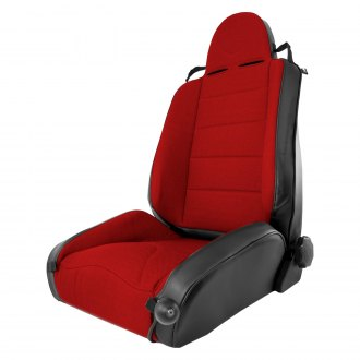 Rugged Ridge® - XHD Off Road Front Seat, Black With Red Insert