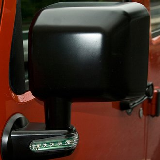 Rugged Ridge® - Driver Side Black Mirror (with LED Turn Signal)