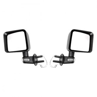 Rugged Ridge® - Black Mirrors (with LED Turn Signal)