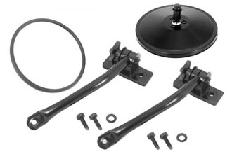 Rugged Ridge® 11025.10 - Black Quick Release Mirror Relocation Kit