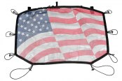 Rugged Ridge® - Front Cover Eclipse American Flag Sun Shade