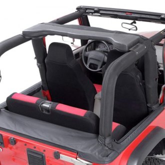 Rugged Ridge® - Full Black Denim Roll Bar Cover