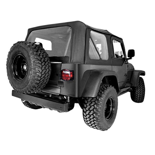 Rugged Ridge® - XHD Replacement Black Denim Soft Top With Door Skins