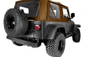 Rugged Ridge® - XHD Replacement Dark Tan Soft Top With Door Skins